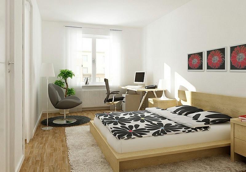 Как обустроить спальню-кабинет: офисный уголок в спальной комнате