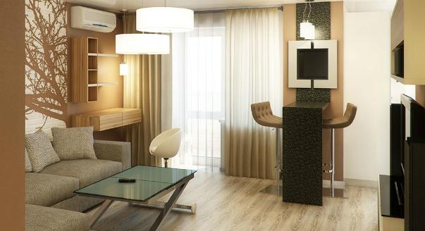 Двухкомнатная квартира в стиле минимализма