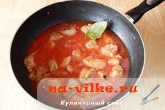 Гуляш из свинины с томатной пастой в мультиварке рецепт с фото