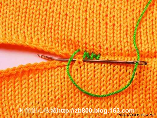 Способы соединения вязаных спицами деталей (24) (517x388, 177Kb)