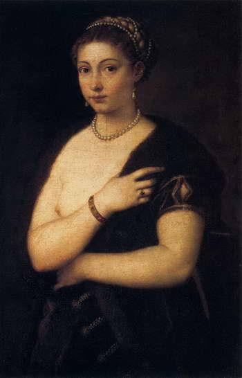 Тициан. Девушка в меху