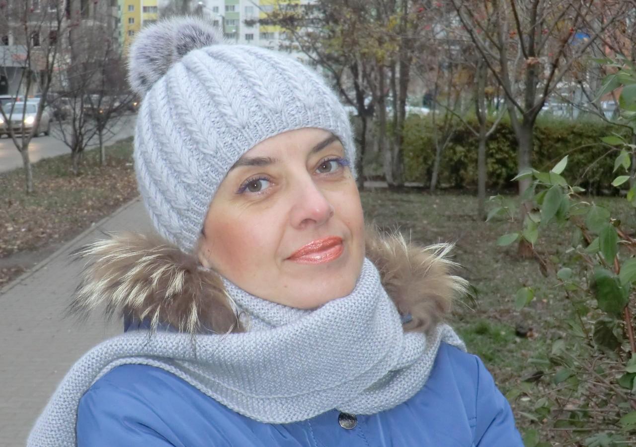 Вязание шапки узором колосок