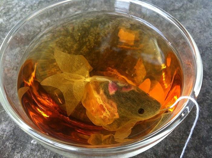 Чайные пакетики – золотые рыбки 2