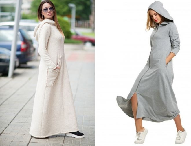 модное платье балахон