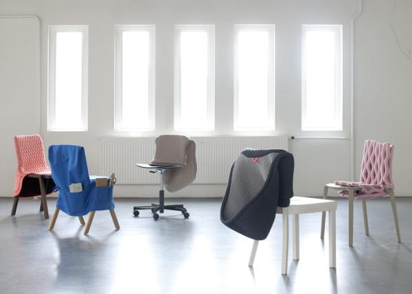 Одежда для старого стула - неожиданный проект, дающий мебели вторую жизнь