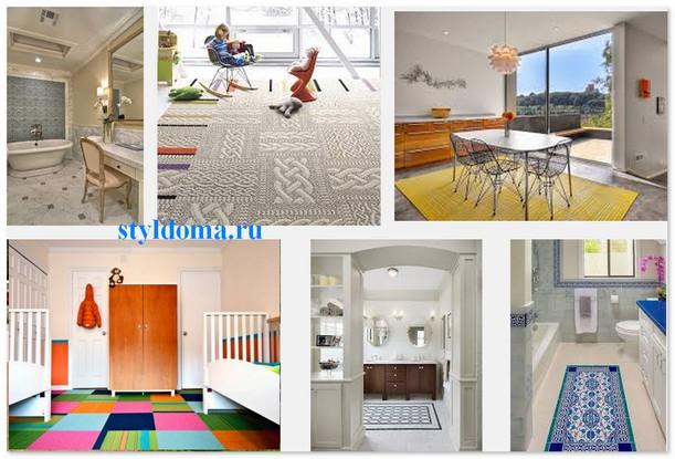 Дизайн напольной плитки для любого уголка Вашего дома