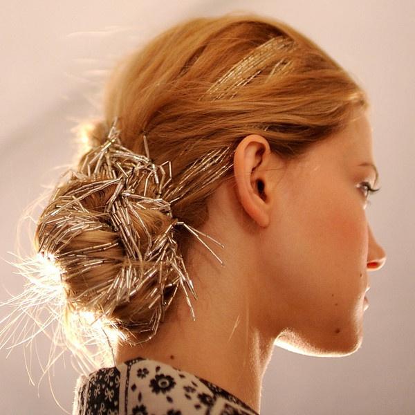 Необычные аксессуары для причёски невесты