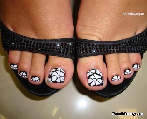 Рисунки ногти ноги