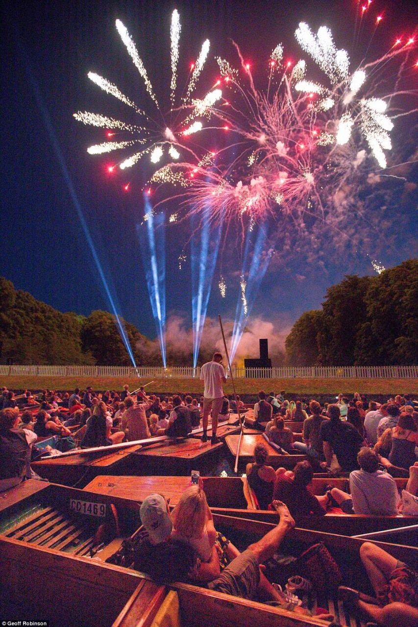 Grand finale: The event came to a close with a dazzling firework display for students and members of the public to enjoy