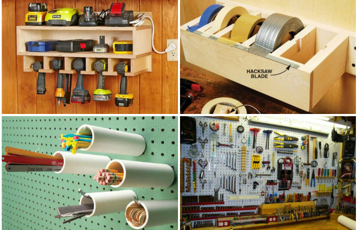 Полочки для инструментов в гараже своими руками 83