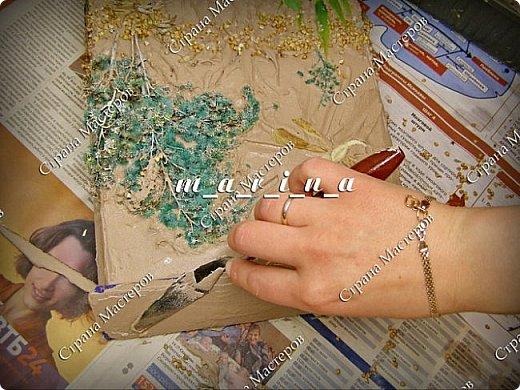 Декор предметов Мастер-класс Ассамбляж Почтовый ящик в технике Терра МК Гипс Краска Материал природный фото 18