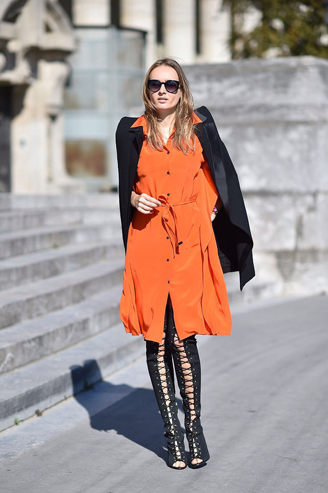 Неделя моды в Париже, весна-лето 2016: street style. Часть 1 (фото 9)