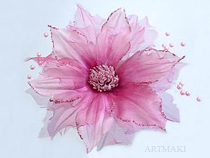 Цветы из ткани. МК Клематис