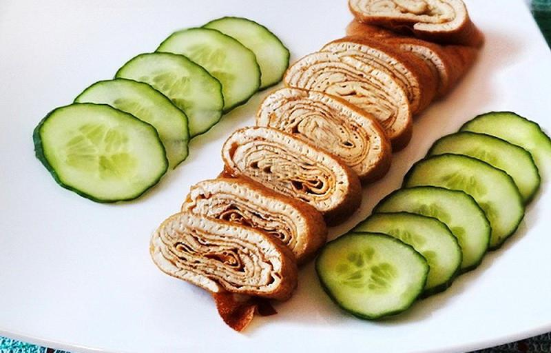 5. Омлет по-японски (эстетичная закуска) еда, завтрак, омлет