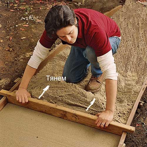 Сделать дорожку на даче своими руками из кирпича