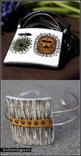 Необычные украшения из самого необычного материала