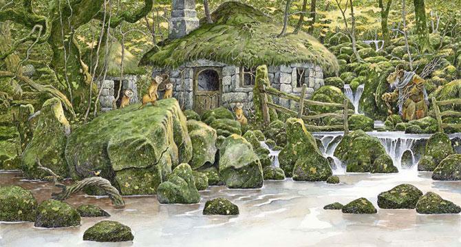 Зеленые картины Дэвида Вьятта