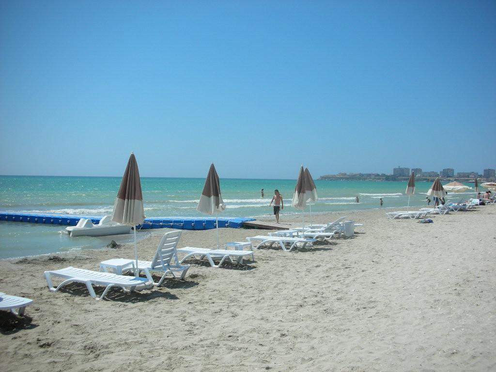 пляж Актау курорт, море, отпуск, россия