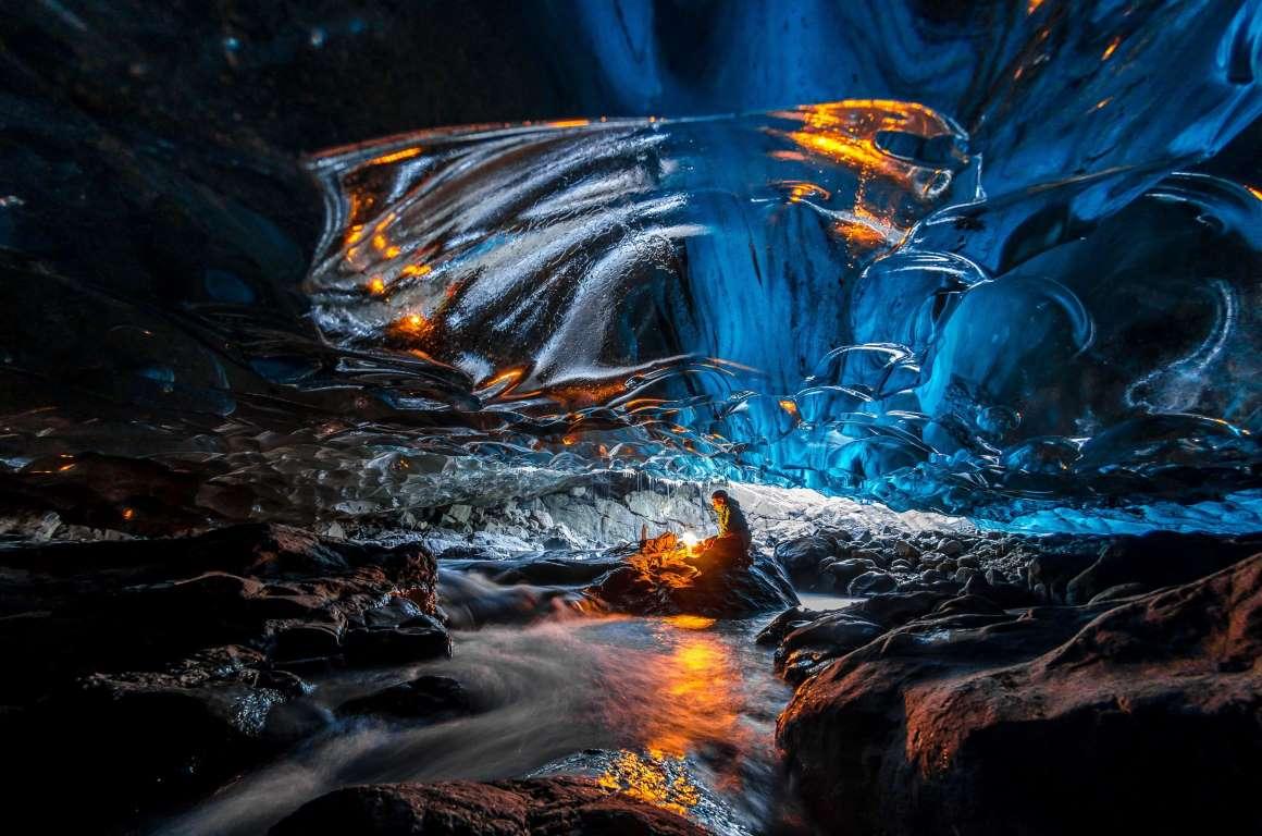 Потусторонняя пещера в леднике Ватнаёкуль-12