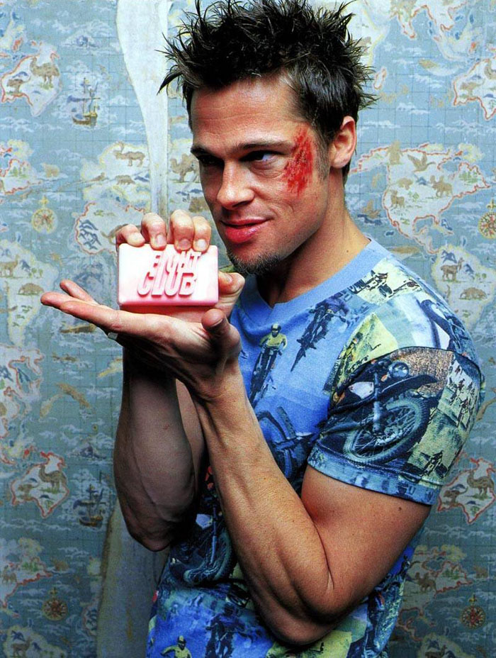 Брэд Питт (Brad Pitt) в фотосессии для фильма «Бойцовский клуб» (Fight Club) (1999), фото 1