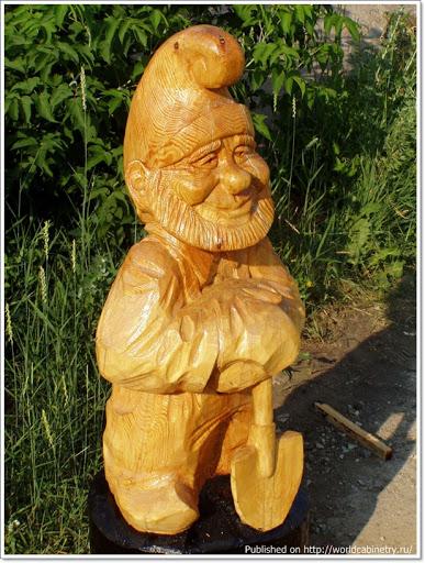 3 Деревянные садово парковые скульптуры Сергея Лебедева