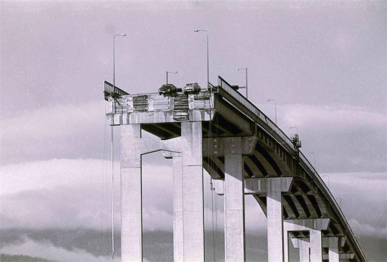 9. Обрушение Тасманова моста. 1975 год. история, неизвестные фото, фото