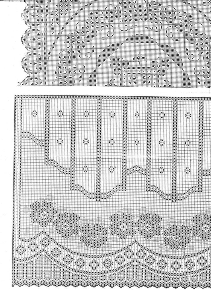 Gardine häkeln - crochet curtain - <a href=