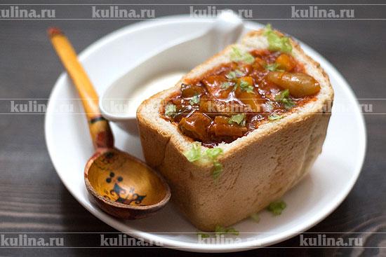 Мясо в хлебе