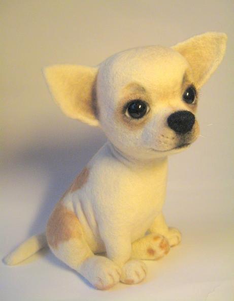 Войлочные игрушки - щенок. Фото