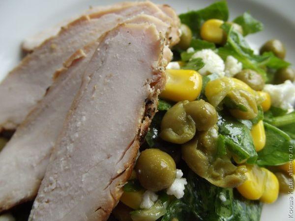 салат с куриной грудкой грудкой и сырными шариками наименование: