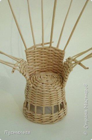 Кукольная жизнь Плетение Кресло Трубочки бумажные фото 9