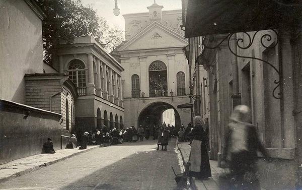 Острая Брама в Вильно (Вильнюсе). Старая открытка