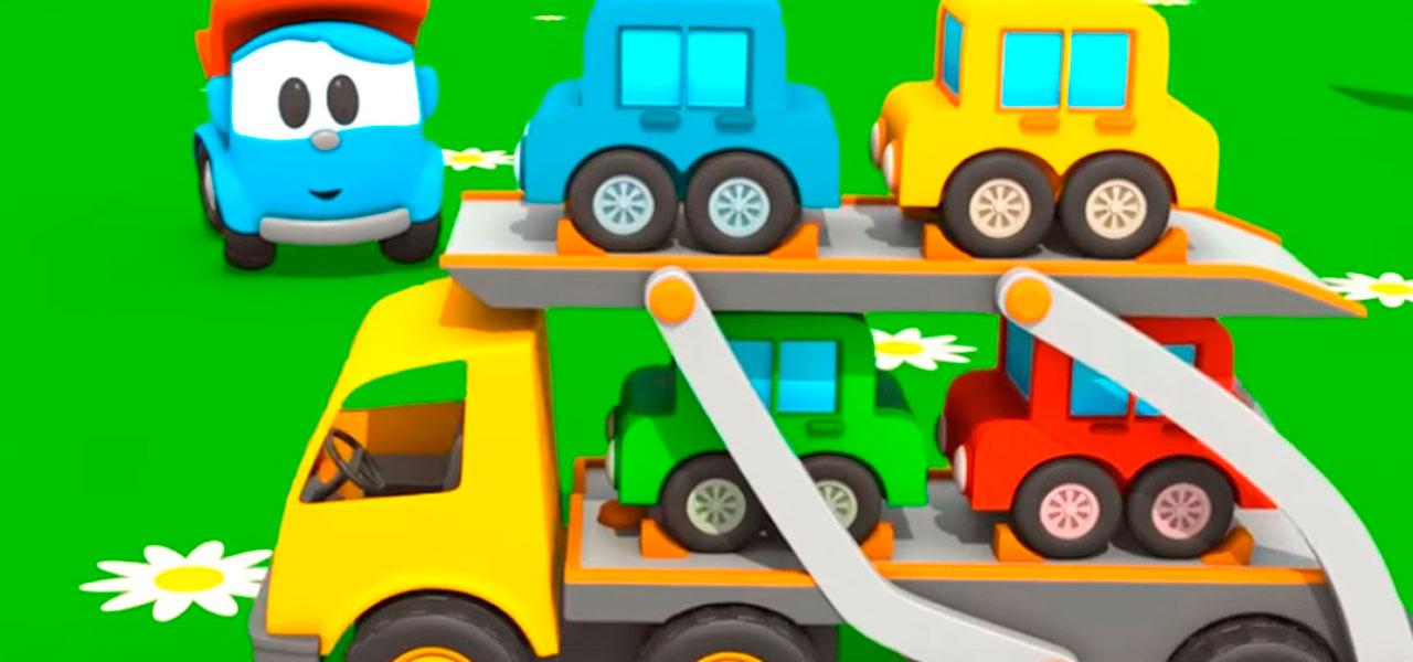 Грузовичок Лёва учит буквы. Учимся читать. Автовоз. Мультфильмы для детей.
