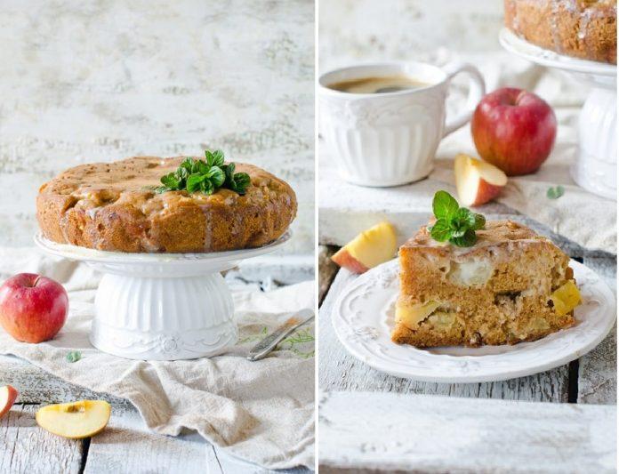 Нравится всем без исключения. Влажный и безумно вкусный яблочный пирог с заливкой из кефира и сгущенного молока