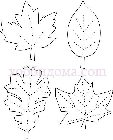 Шаблон осенних листьев картинки