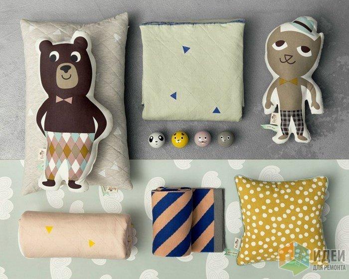 Декоративные подушки, аксессуары в виде животных