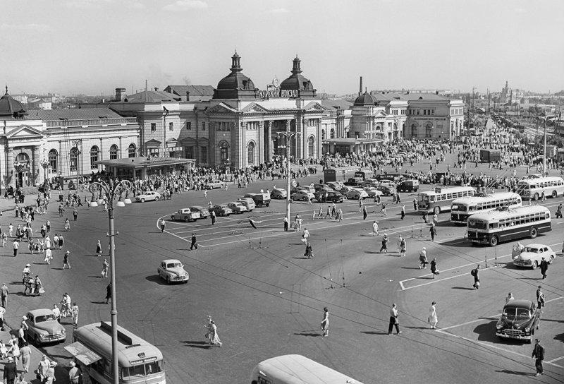 6. Площадь Курского вокзала до и после, дороги, интересно, история, столица, тогда и сейчас, фото москвы
