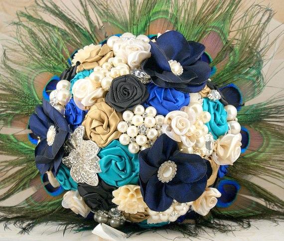 Букеты с текстильными цветами
