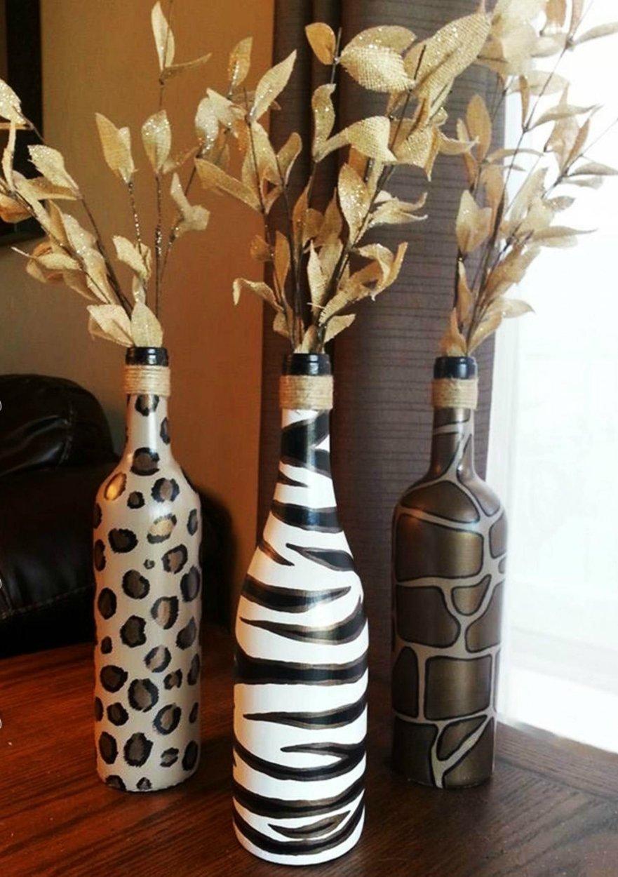 Стеклянные бутылки декорированные своими руками