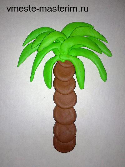Как сделать банан для пальмы 678