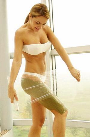 Домашнее обертывание для похудения в бедрах
