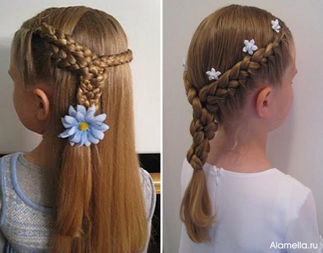 Прически на длинные волосы для детей 9 лет