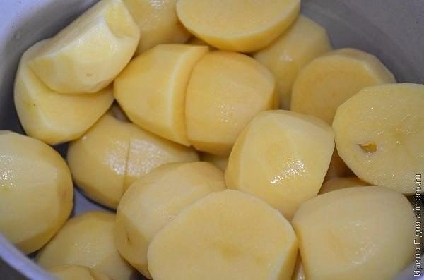 Кныши из слоёного теста с картошкой