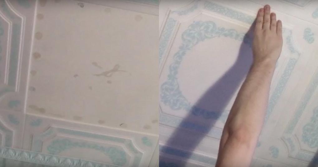 Простой способ оклейки потолочной плиткой не смывая побелку