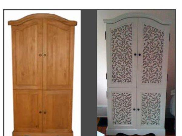 Как преобразить старый шкаф своими руками фото до и после картинки 20