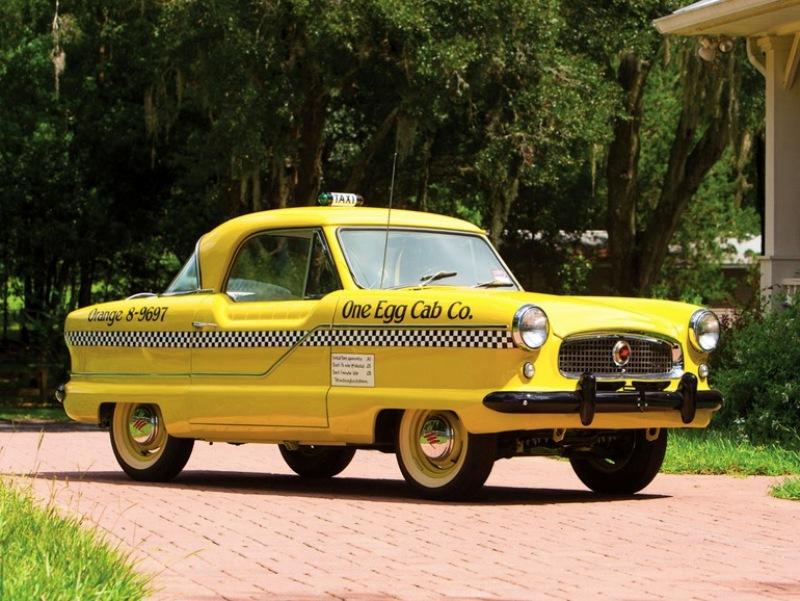 1. Маленькое желтое такси 1961 года Hershey Motor Lodge, аукцион, олдтаймер, продажа авто