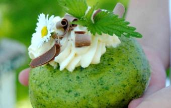 Паровые булочки со шпинатом …