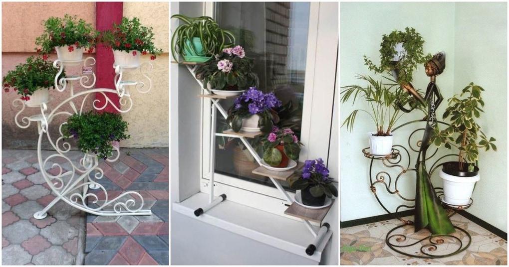 Милые и вдохновляющие идеи подставок для цветов