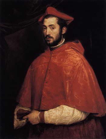 Тициан. Кардинал Алессандро Фарнезе
