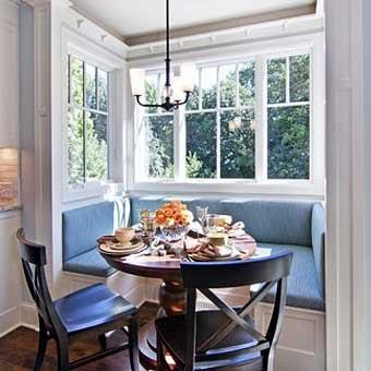 Стильные кухни с кухонным уголком